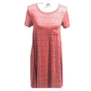 LuLaRoe Heathered Red Carly Dress XXS